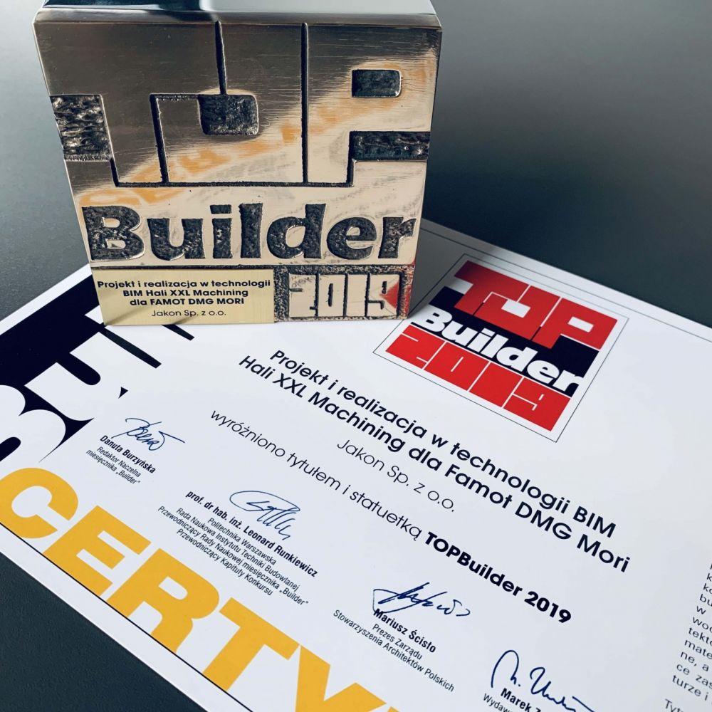 Jakon uzyskał nagrodę Top Builder 2019